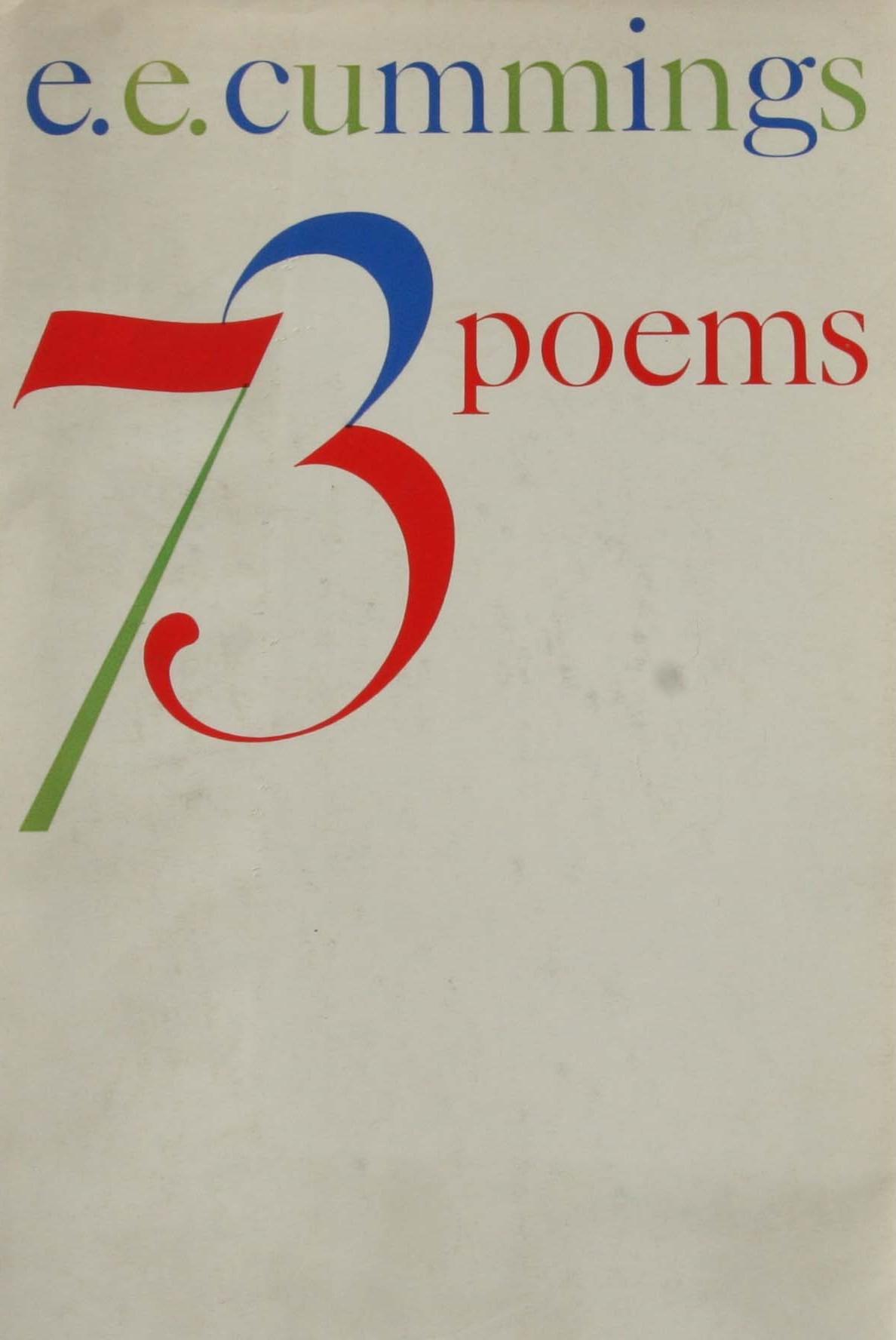 e e cummings 73 poems first edition