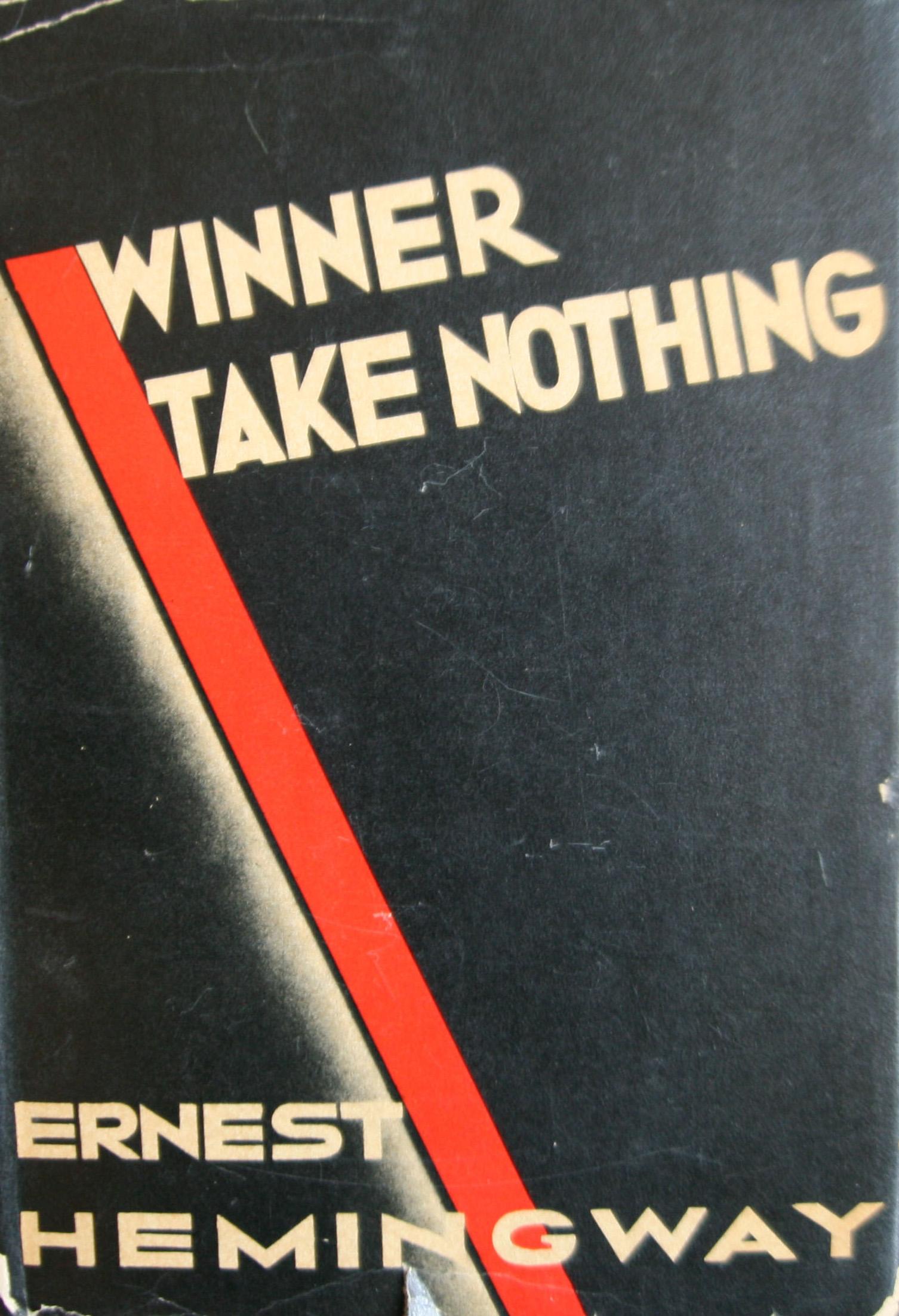Ernest Hemingway Winner Take Nothing first edition