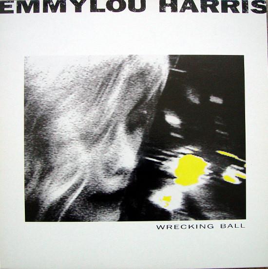 emmylou harris wrecking ball orig. uk press. vinyl album