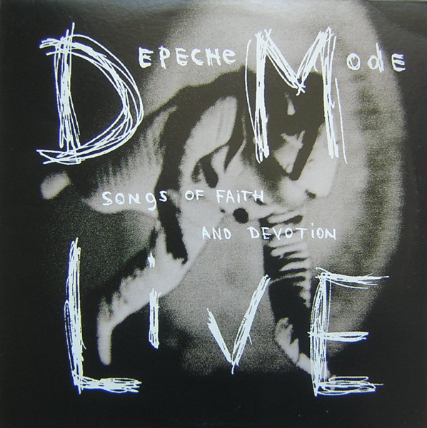 depeche mode songs of faith and devotion live vinyl album orig. u.k. press.