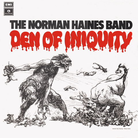 The Norman Haines Band  Den Of Iniquity vinyl lp uk