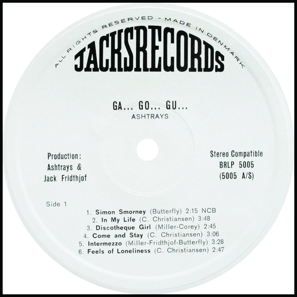 Ashtrays Ga Go Gu Jacks Beat Records BRLP 5005 Orig. Press.