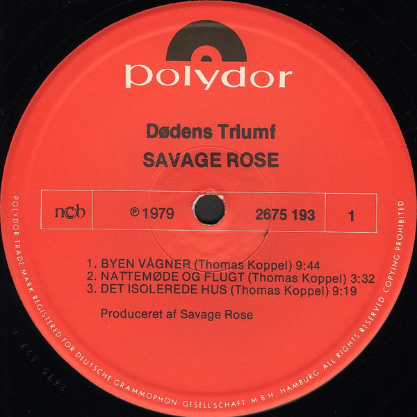 Savage Rose Dødens Triumf Polydor 2675 193 Deleted 2-lp version vinyl album