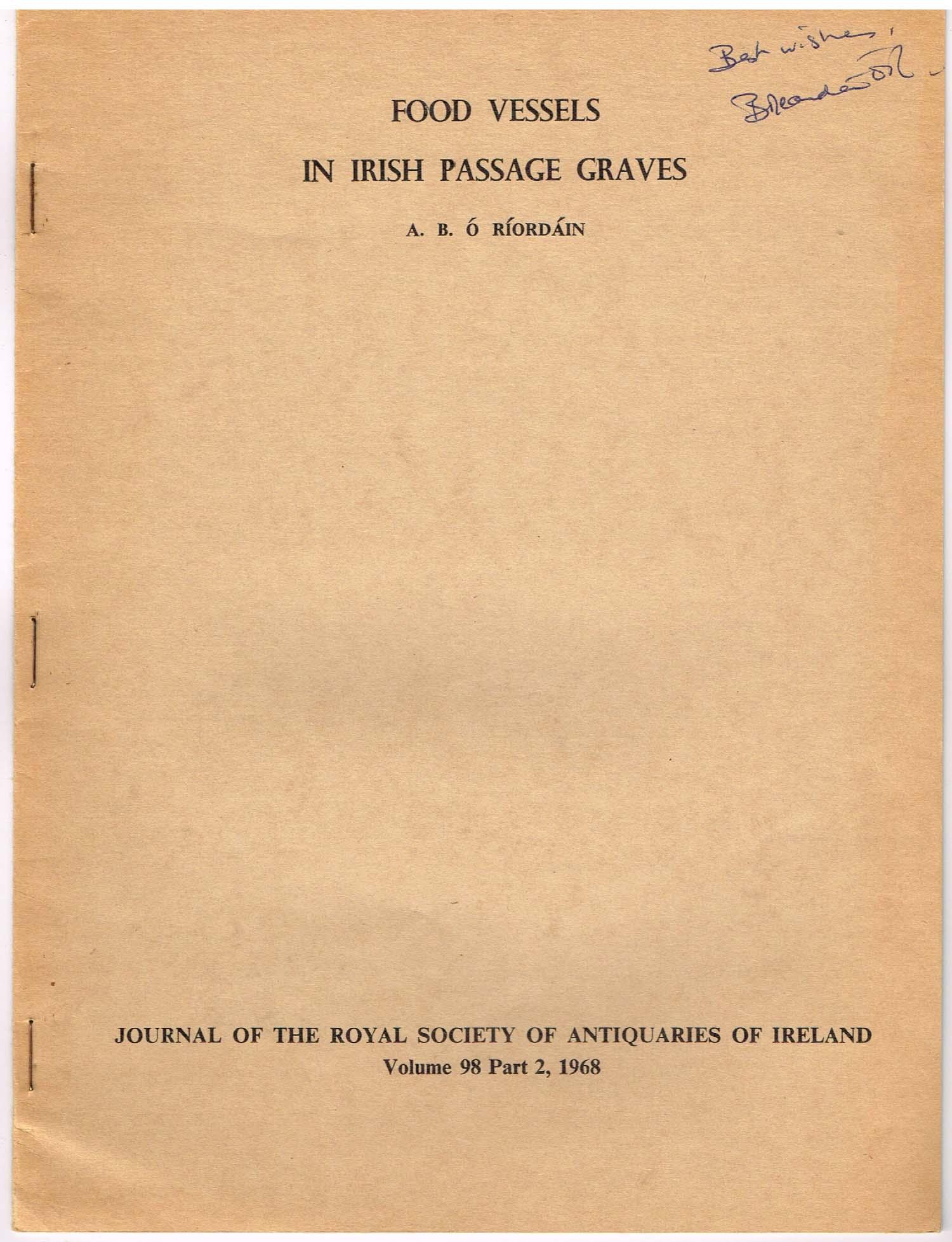food vessels in irish passage graves