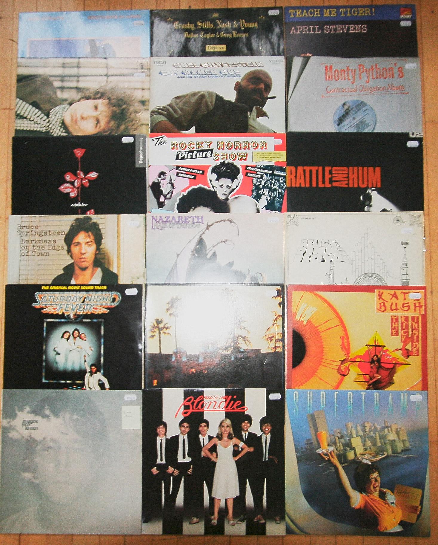klassiske rockalbums - vinyl
