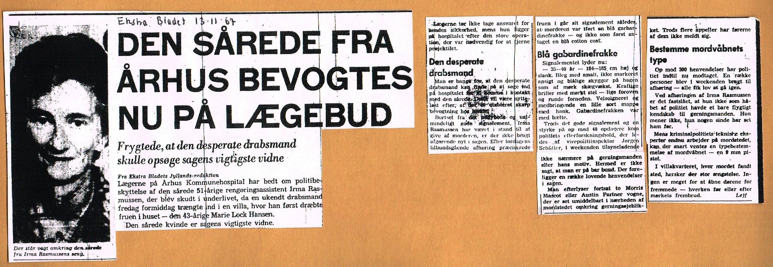 Højbjergmordet - Ekstra Bladet 13.11-1967