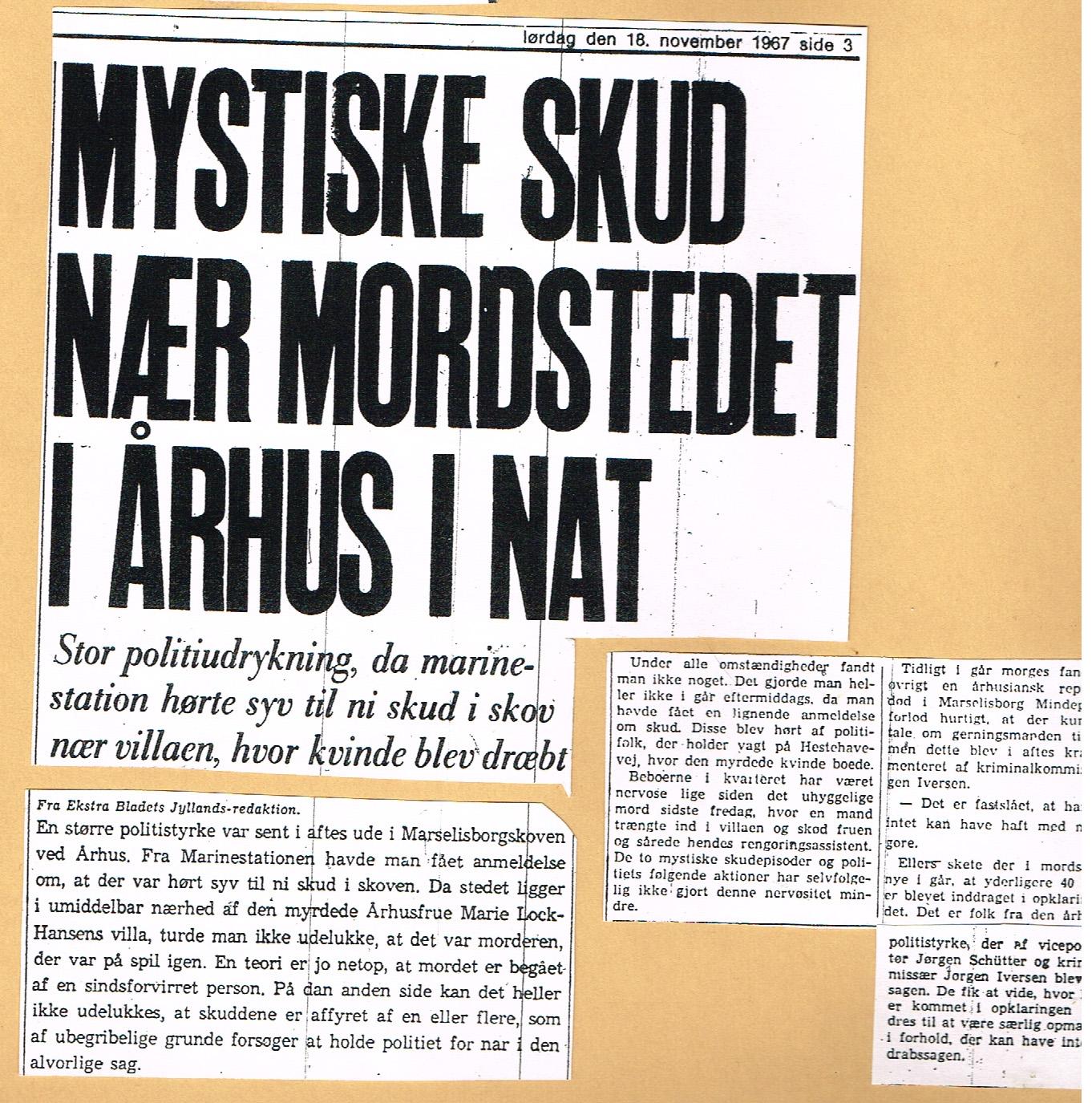 Højbjergmordet - Ekstra Bladet 18.11-1967