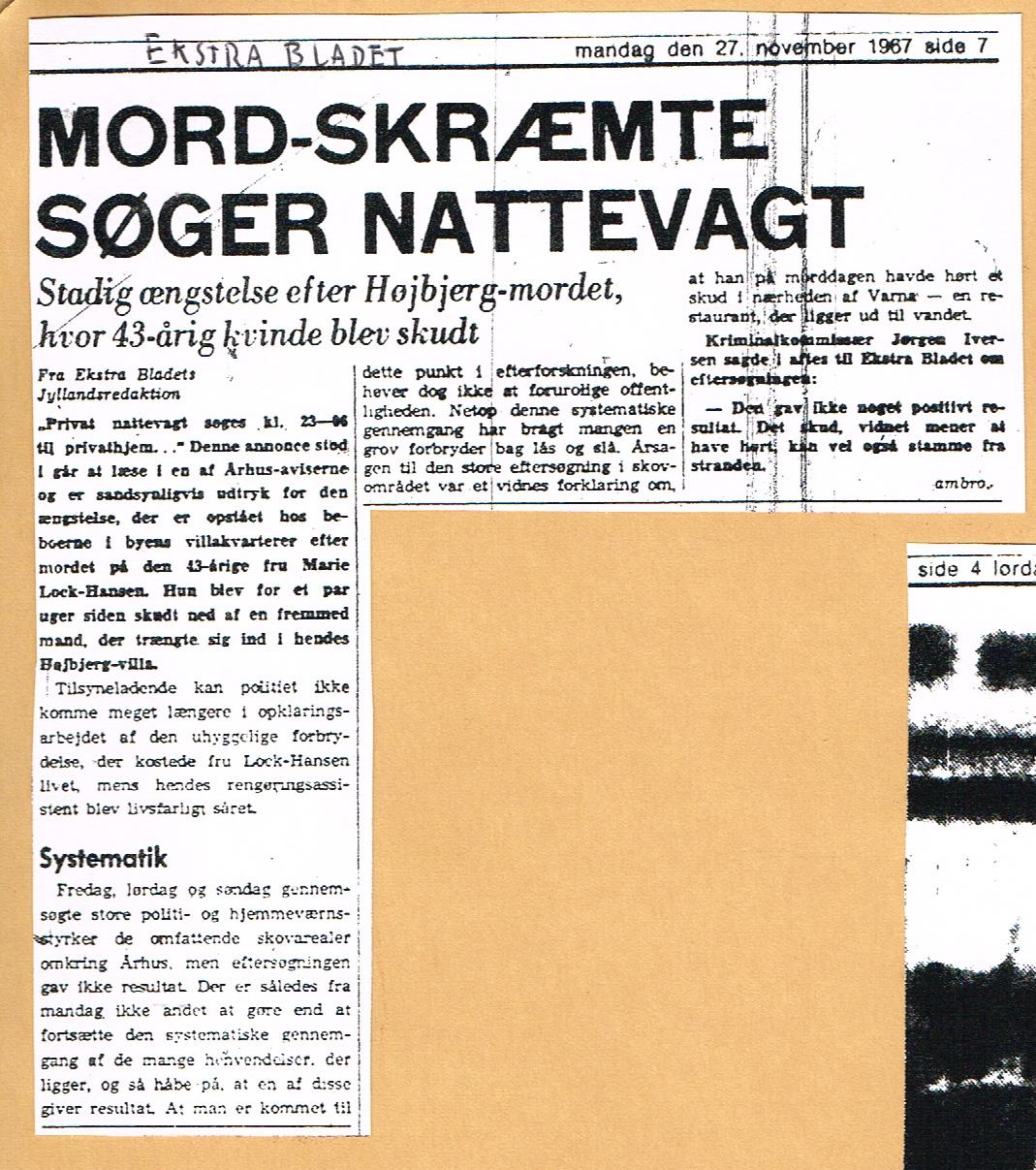 Højbjergmordet - Ekstra Bladet 27.11-1967