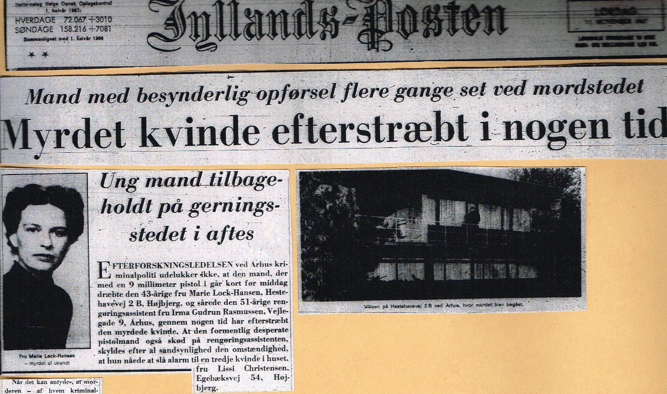 Højbjergmordet - Jyllands-Posten 11.11-1967