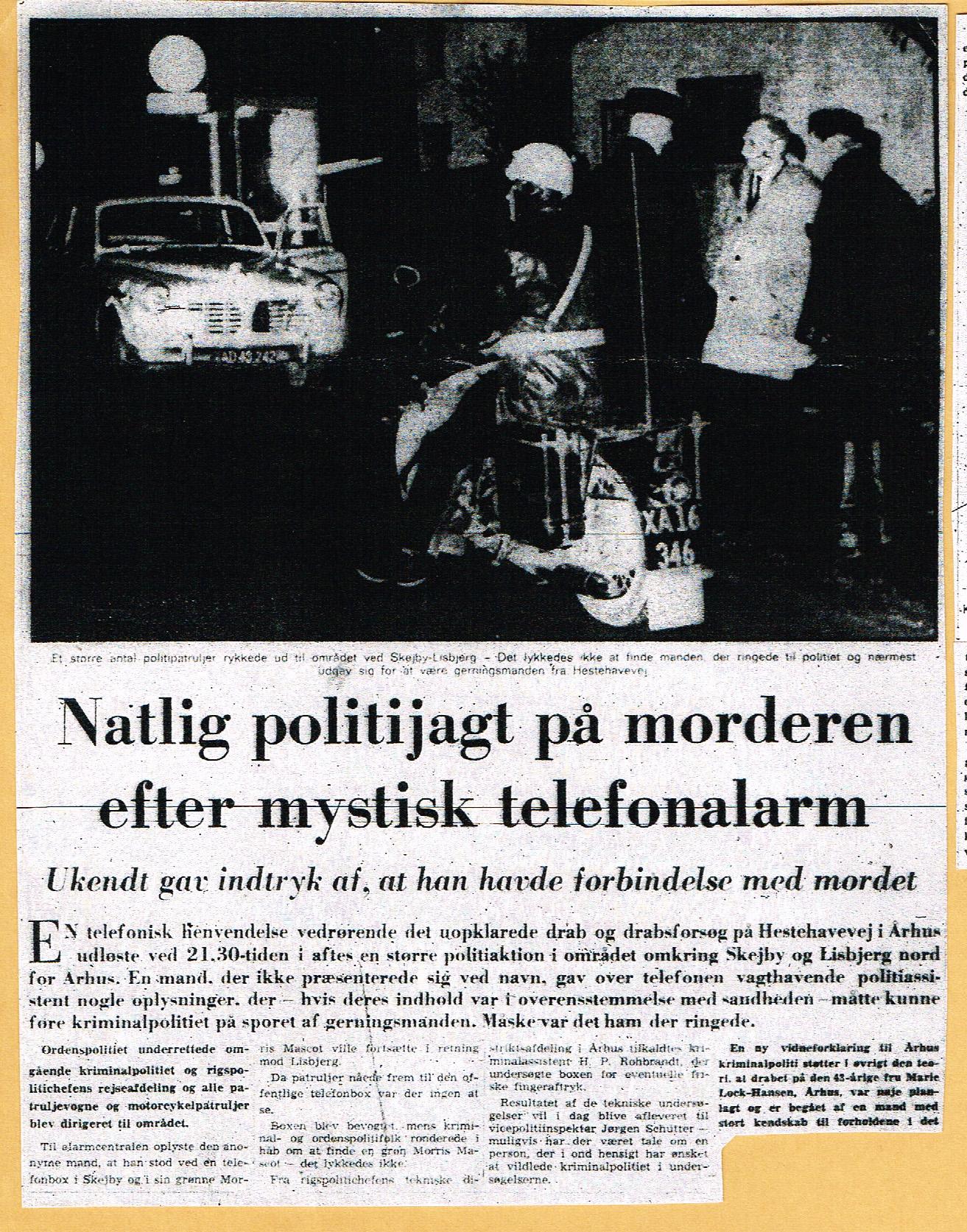 Højbjerg-mordet - Jyllands-Posten omtale 1 nov. 1967