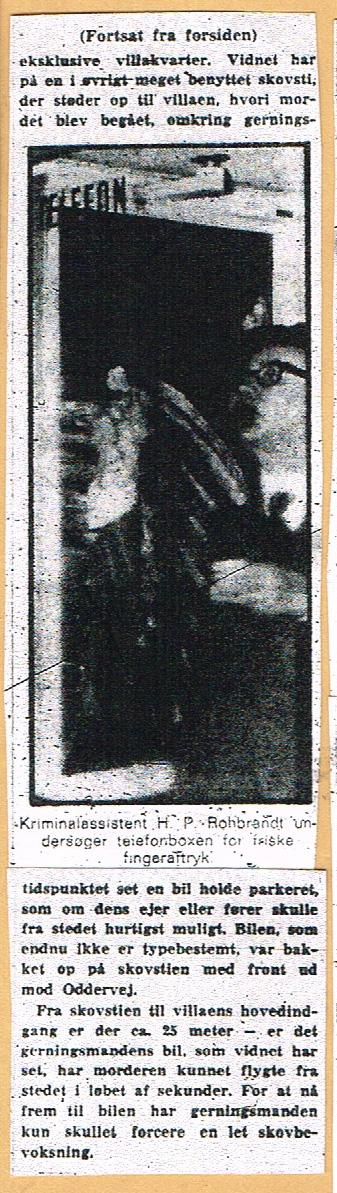 Højbjerg-mordet - Jyllands-Posten omtale 2 nov. 1967