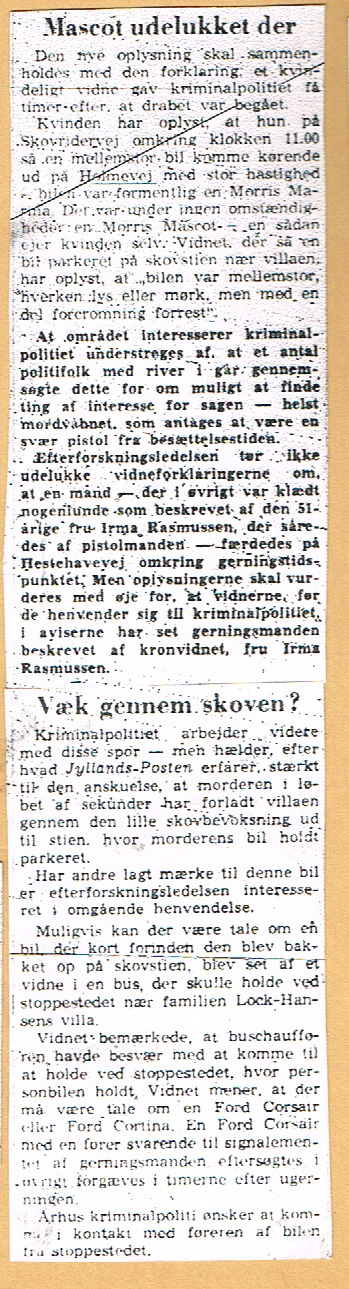 Højbjerg-mordet - Jyllands-Posten nov. 1967