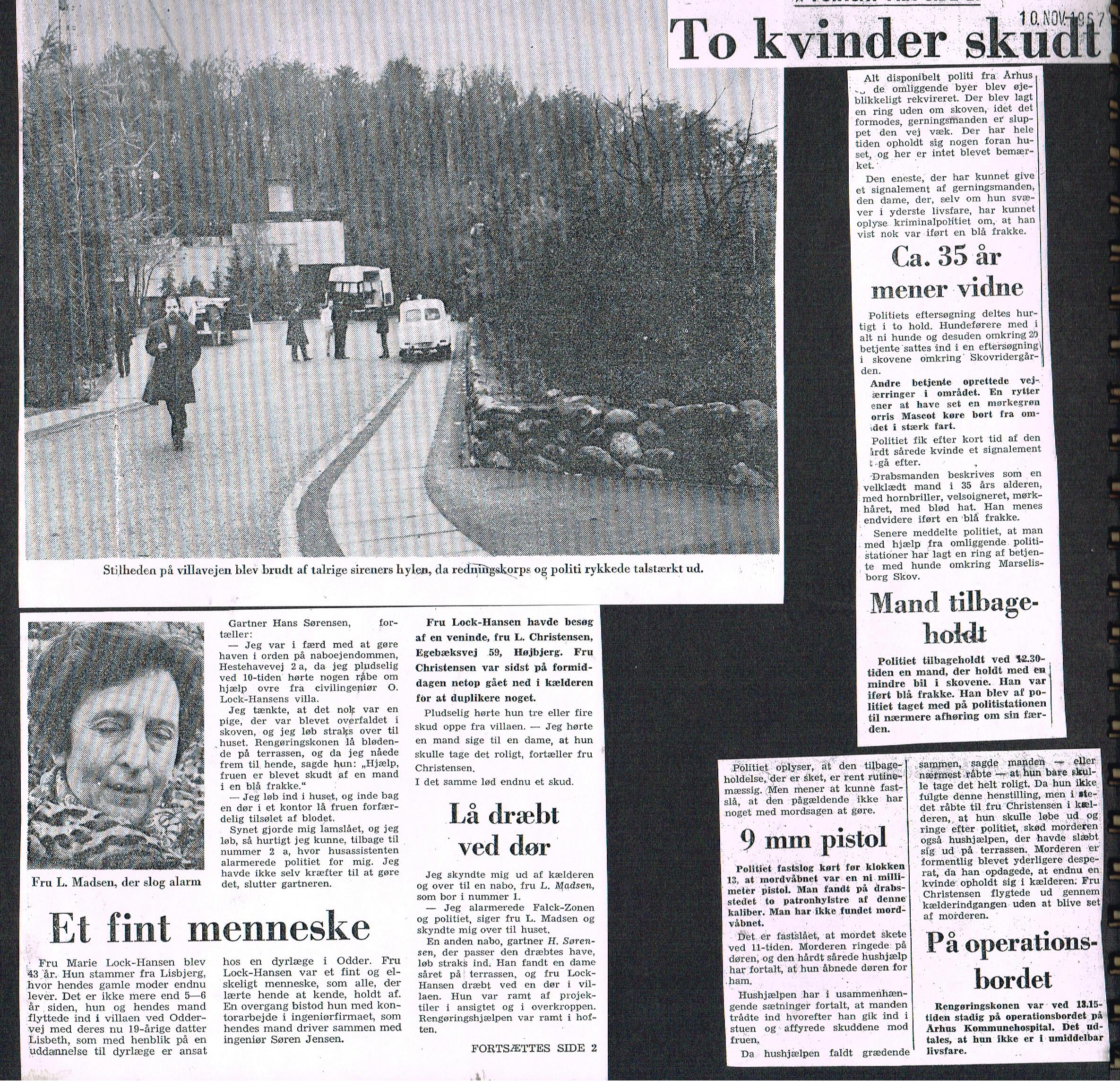 Højbjerg-drabet Aarhus Stiftstidende 10. november 1967.
