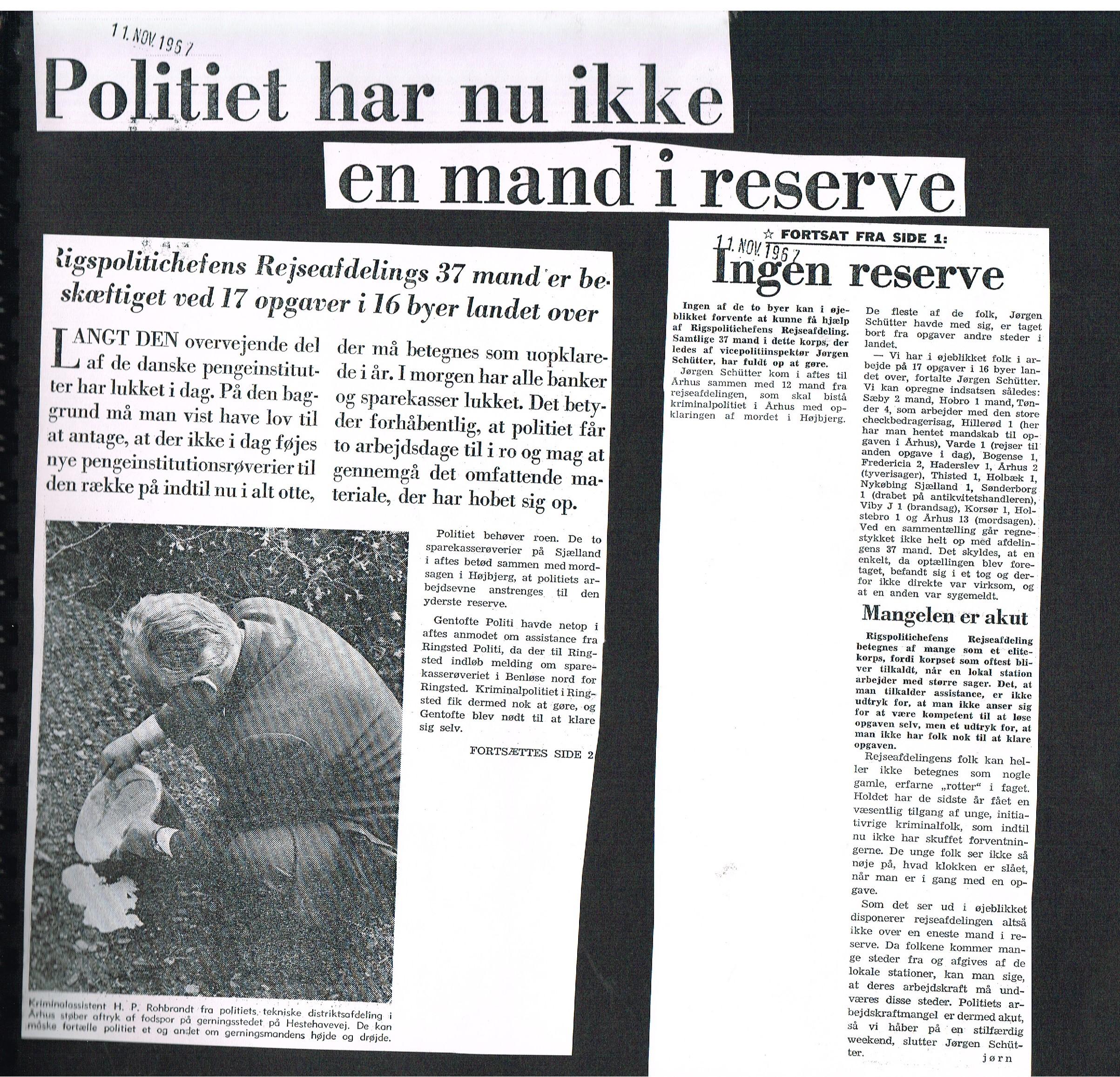 Højbjerg-drabet Aarhus Stiftstidende 11 november 1967
