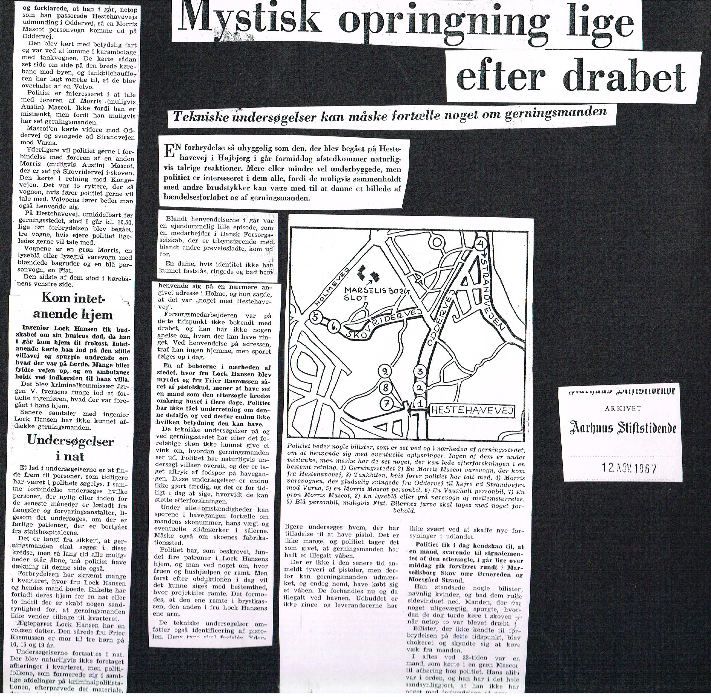 Højbjerg-drabet Aarhus Stiftstidende 12. november 1967