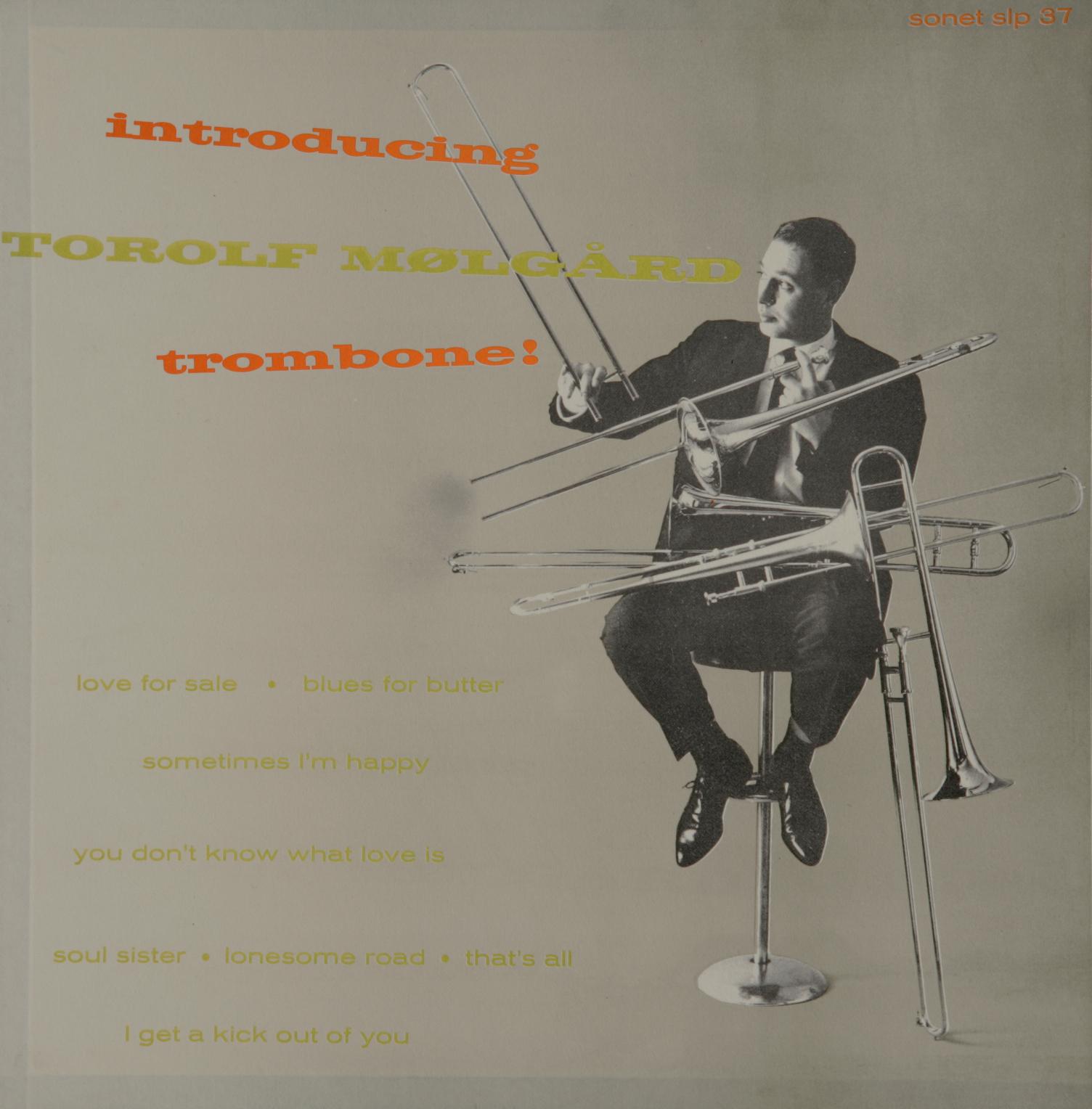 Torolf Mølgård Trombone Sonet SLP 37 Vinyl LP