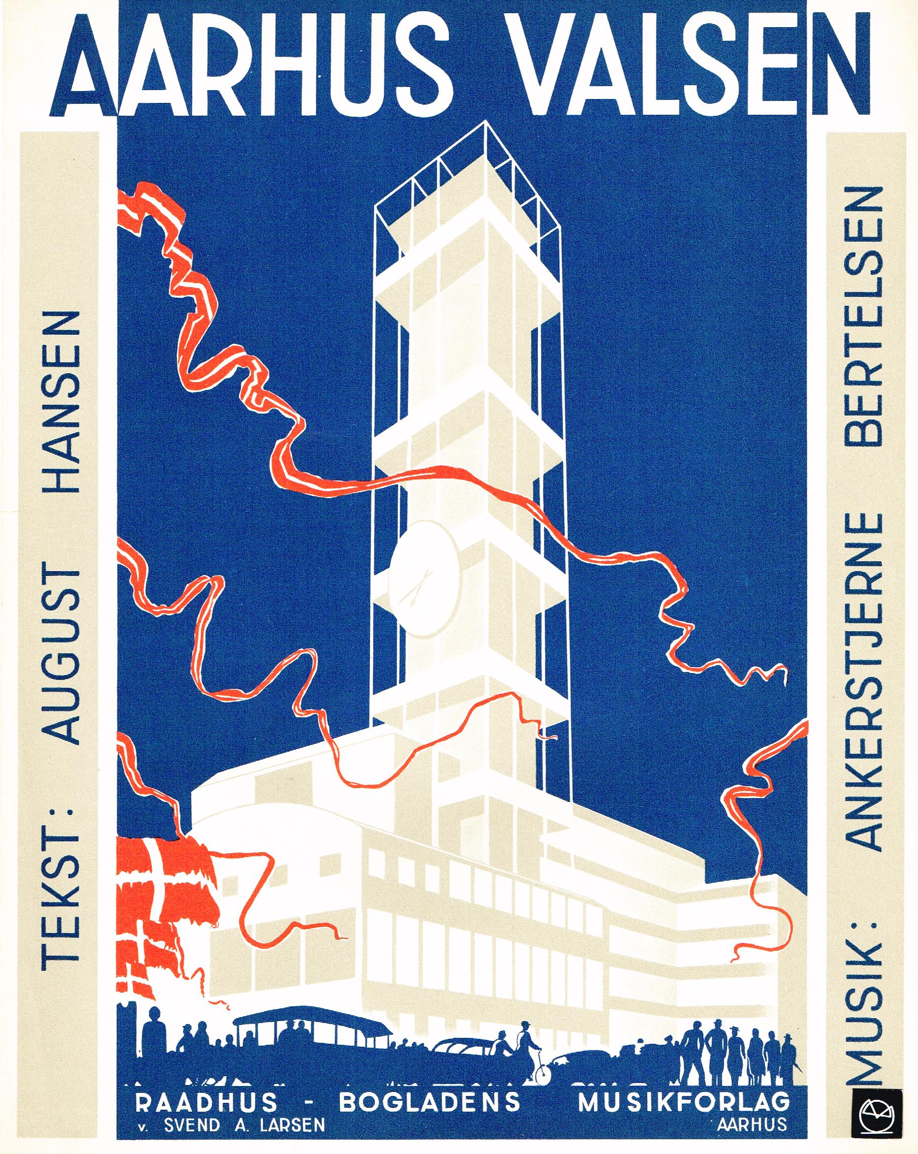 Aarhus Rådhus - Raadhus Bogladens Musikforlag - Boghandler Svend A. Larsen