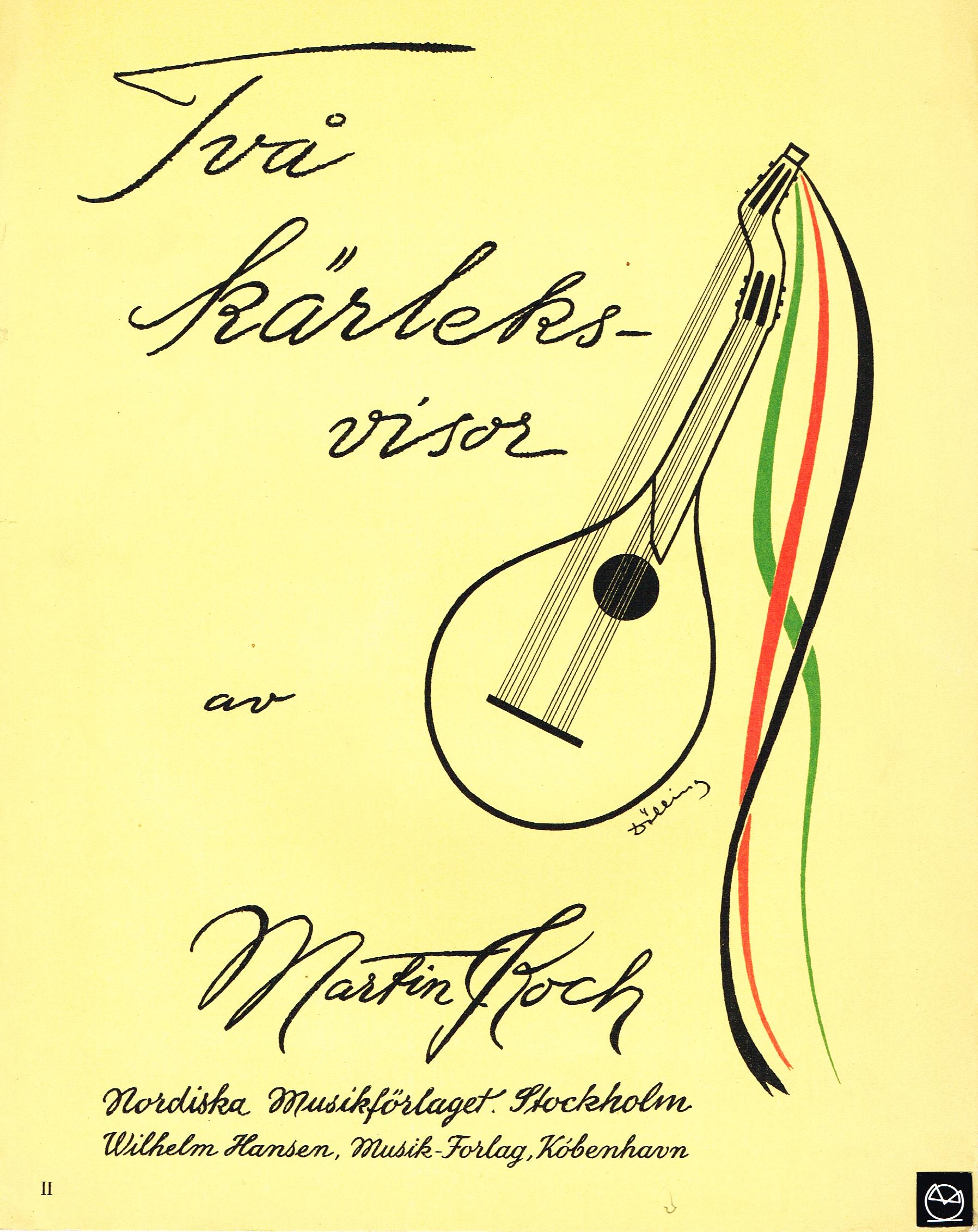 Två Kärleksvisor Martin Koch