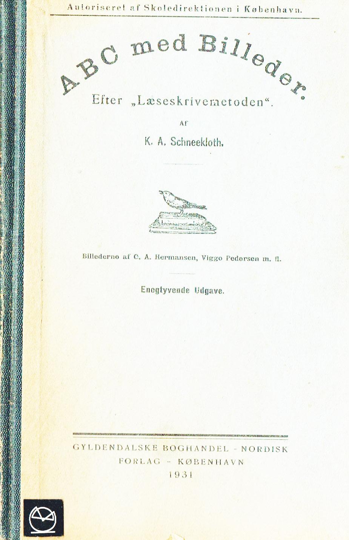 ABC med billeder skrivelæsemetoden skolebog 1931