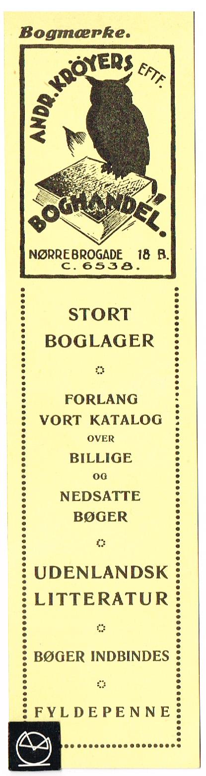 Boghandel Andr. Kröyers Eftf. Nørrebrogade 18 b, København