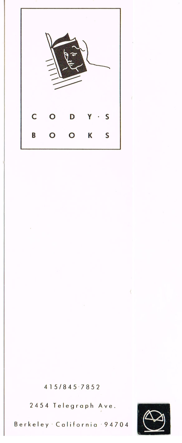 Codys Books, Berkeley California - bogmærke