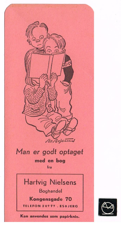 Hartvig Nielsens Boghandel, Kongensgade 70, Esbjerg - bogmærke