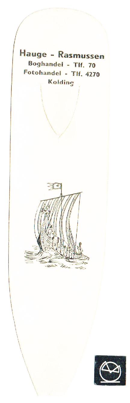 Hauge-Rasmussen Boghandel, Kolding - bogmærke