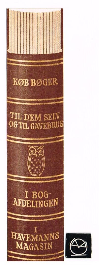 Havemanns Magasin, Bogafdelingen, Vesterbrogade, København - bogmærke