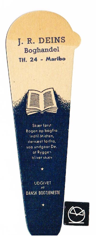J.M. Deins Boghandel, Maribo - bogmærke