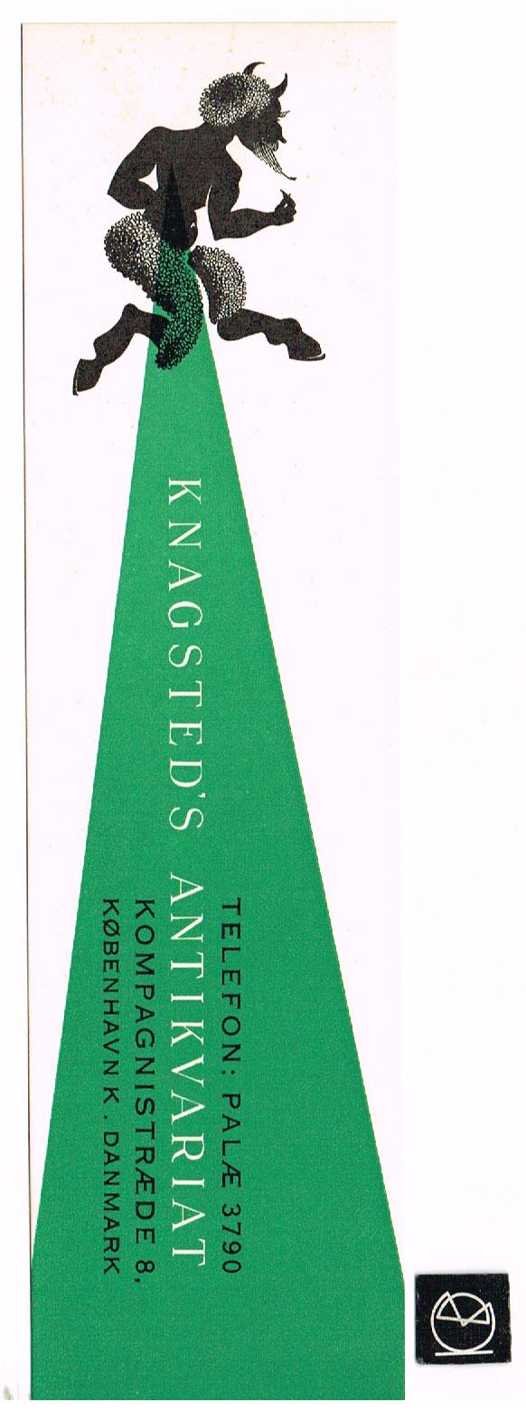 Knagsteds Antikvariat, København - bogmærke
