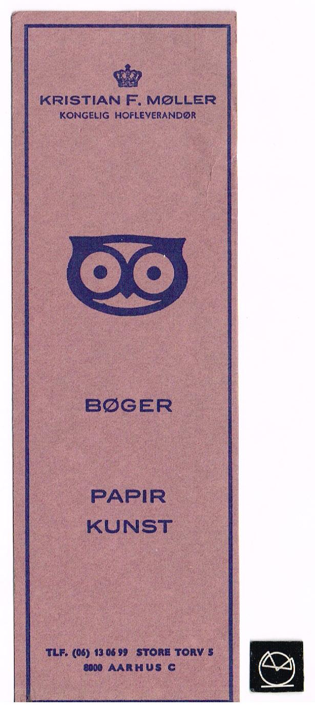 Kristian F. Møller Boghandel, Aarhus - Bogmærke