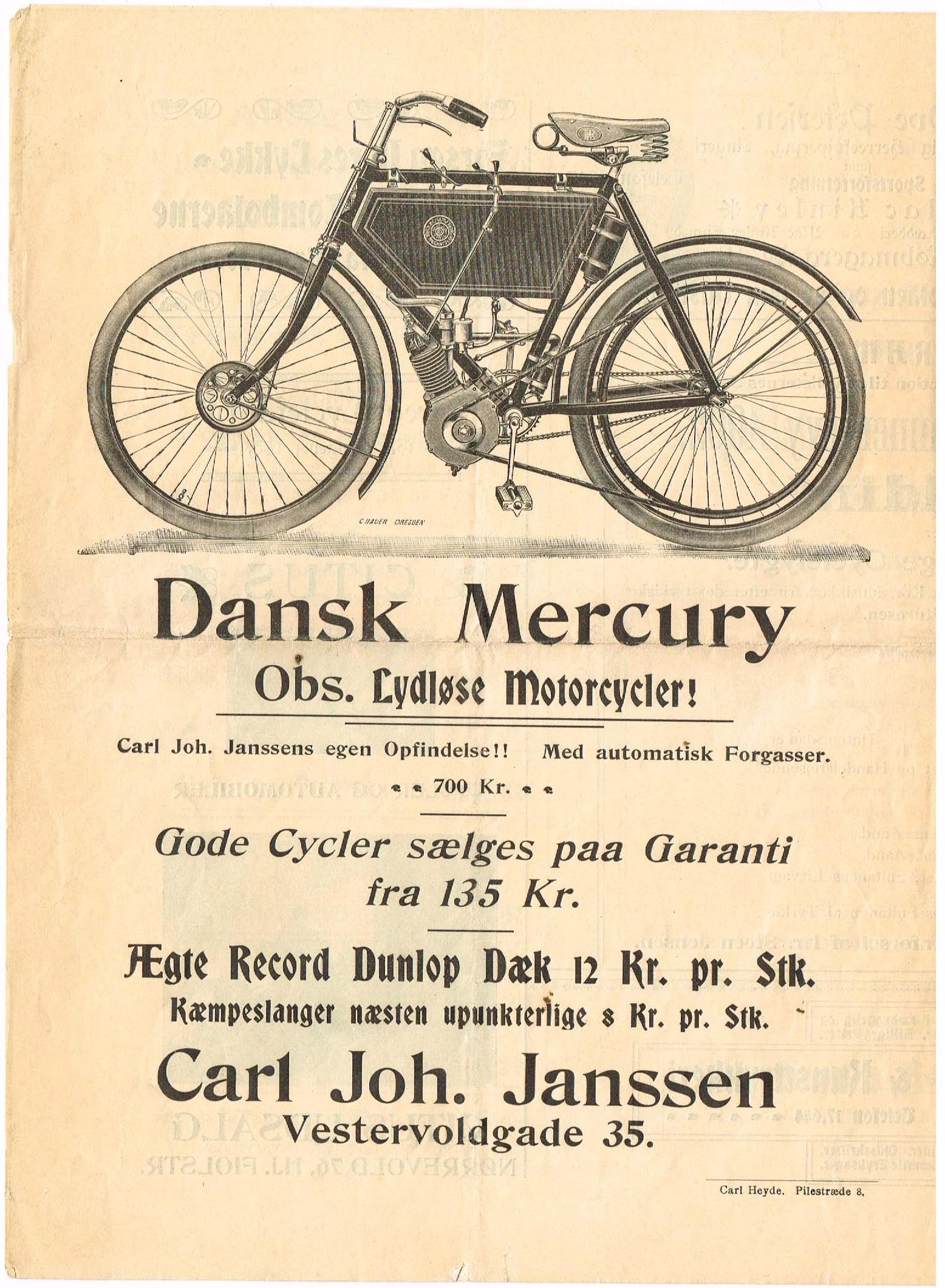 dansk mercury motorcykel
