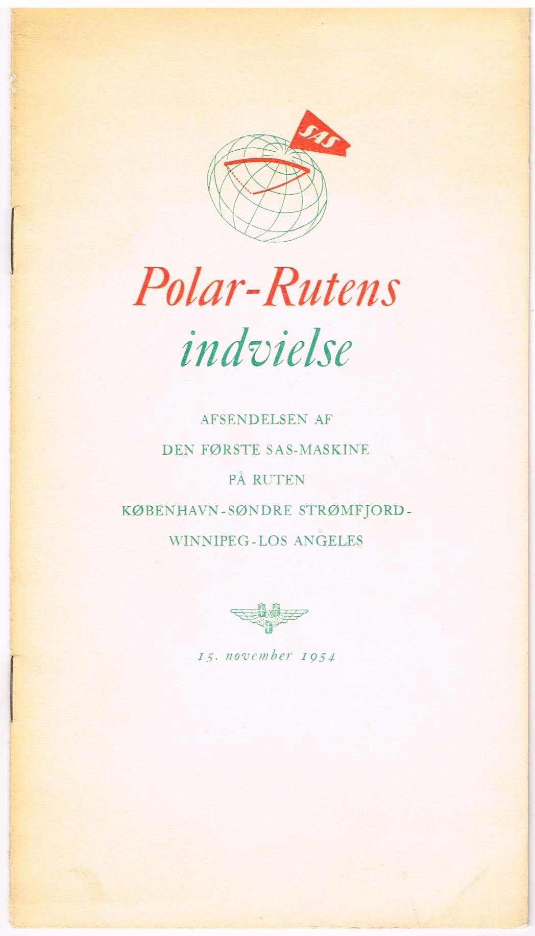polar-rutens indvielse 1954
