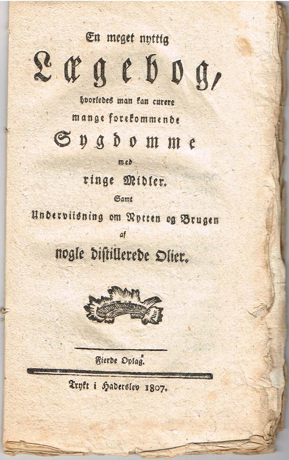 en meget nyttig lægebog 1807