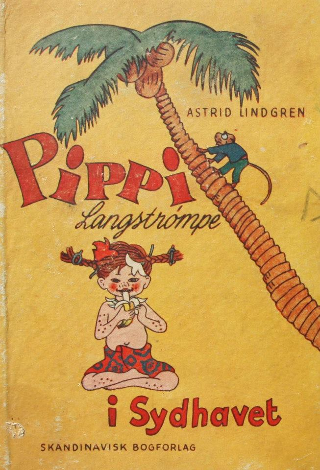 Astrid Lindgren Pippi Langstrømpe i Sydhavet dansk 1.udgave