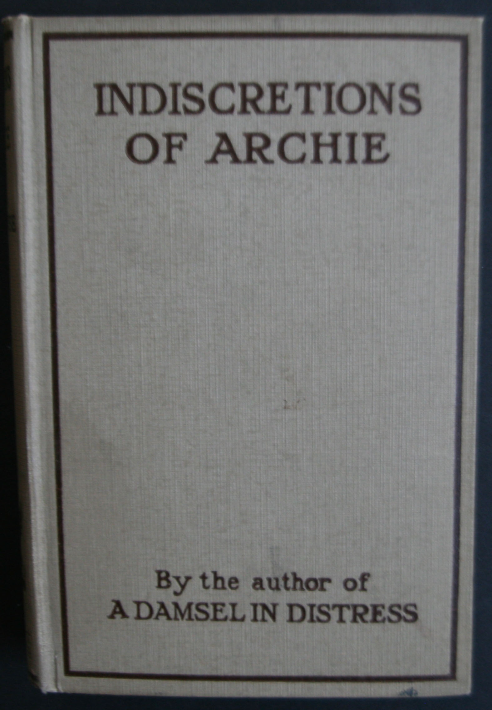 p g wodehouse indiscretions of archie