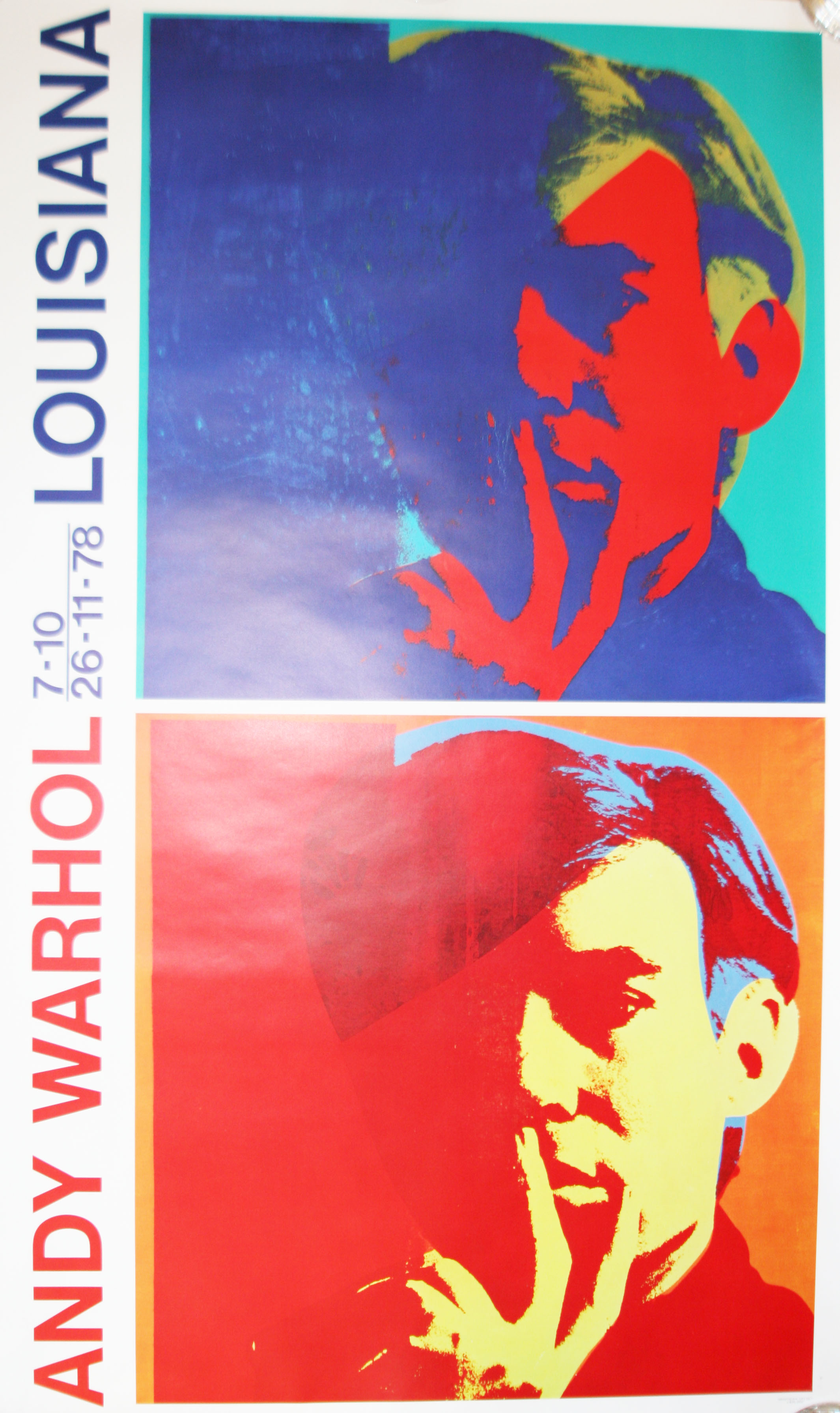 original andy warhol plakat louisiana