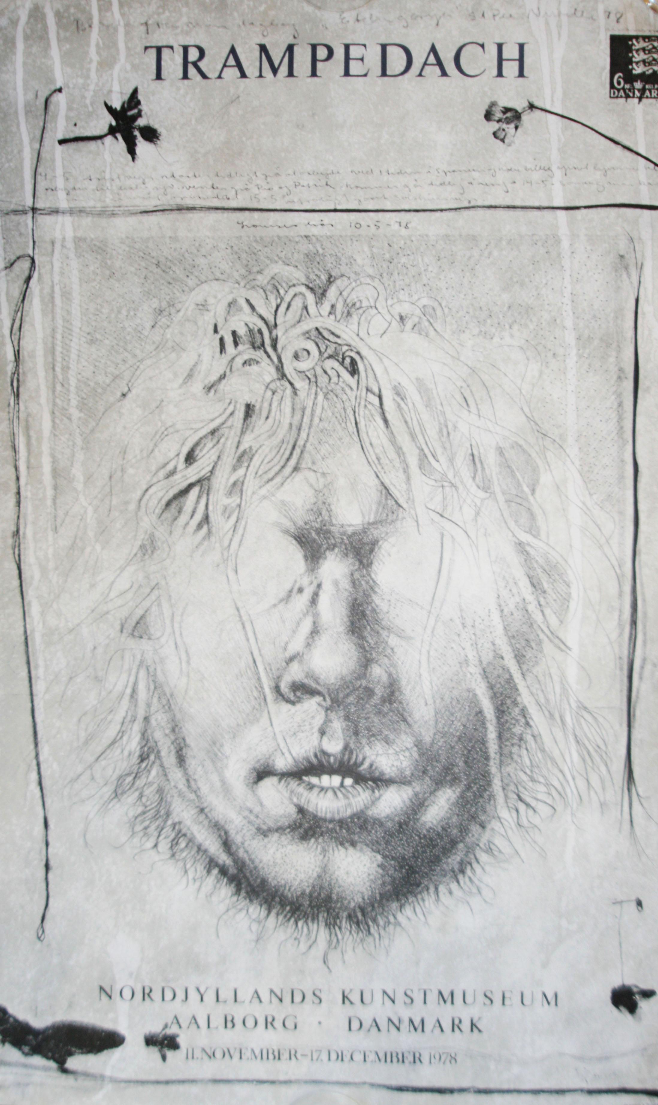 kurt trampedach original udstillingsplakat 1978