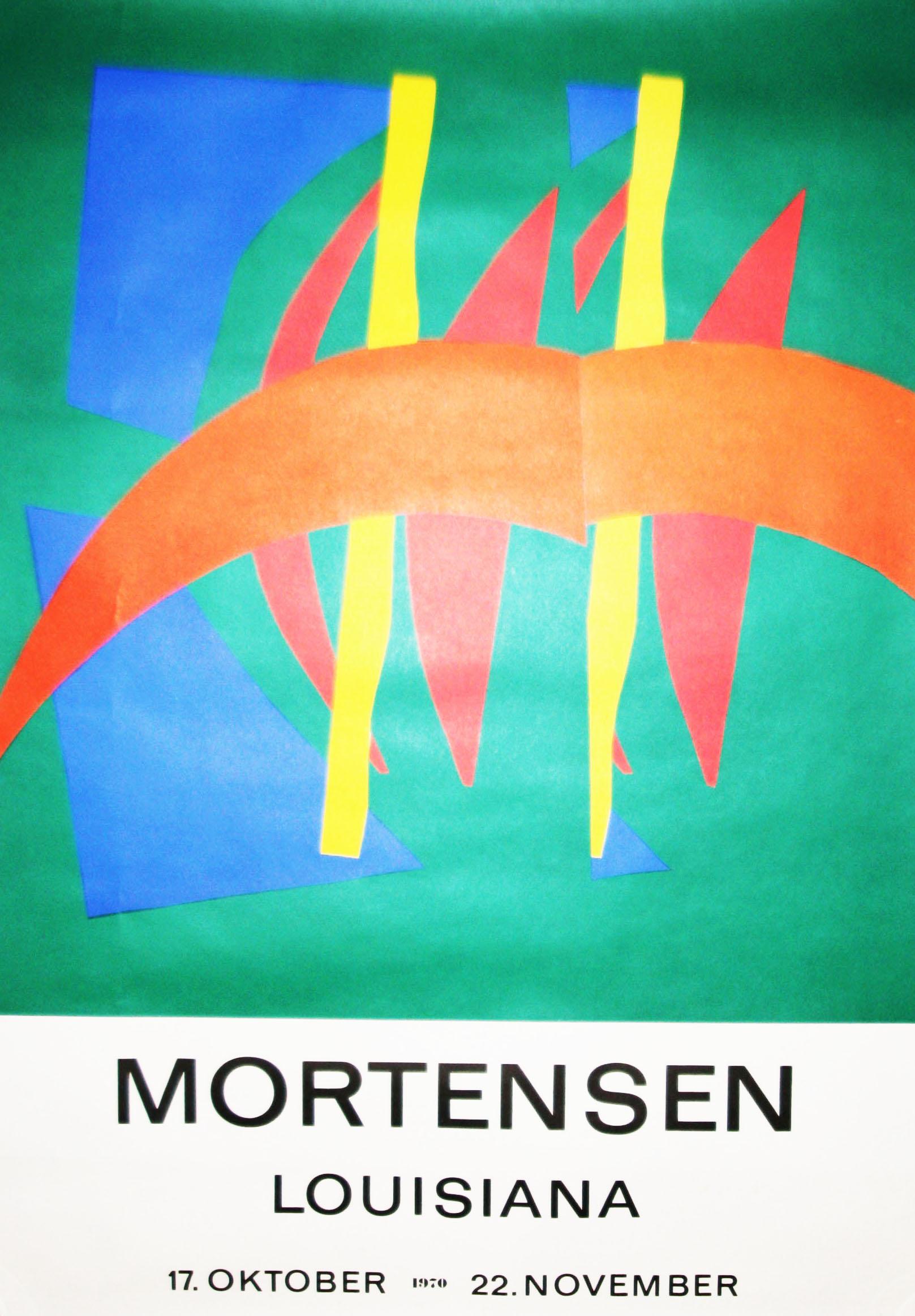 richard mortensen original udstillingsplakat 1970