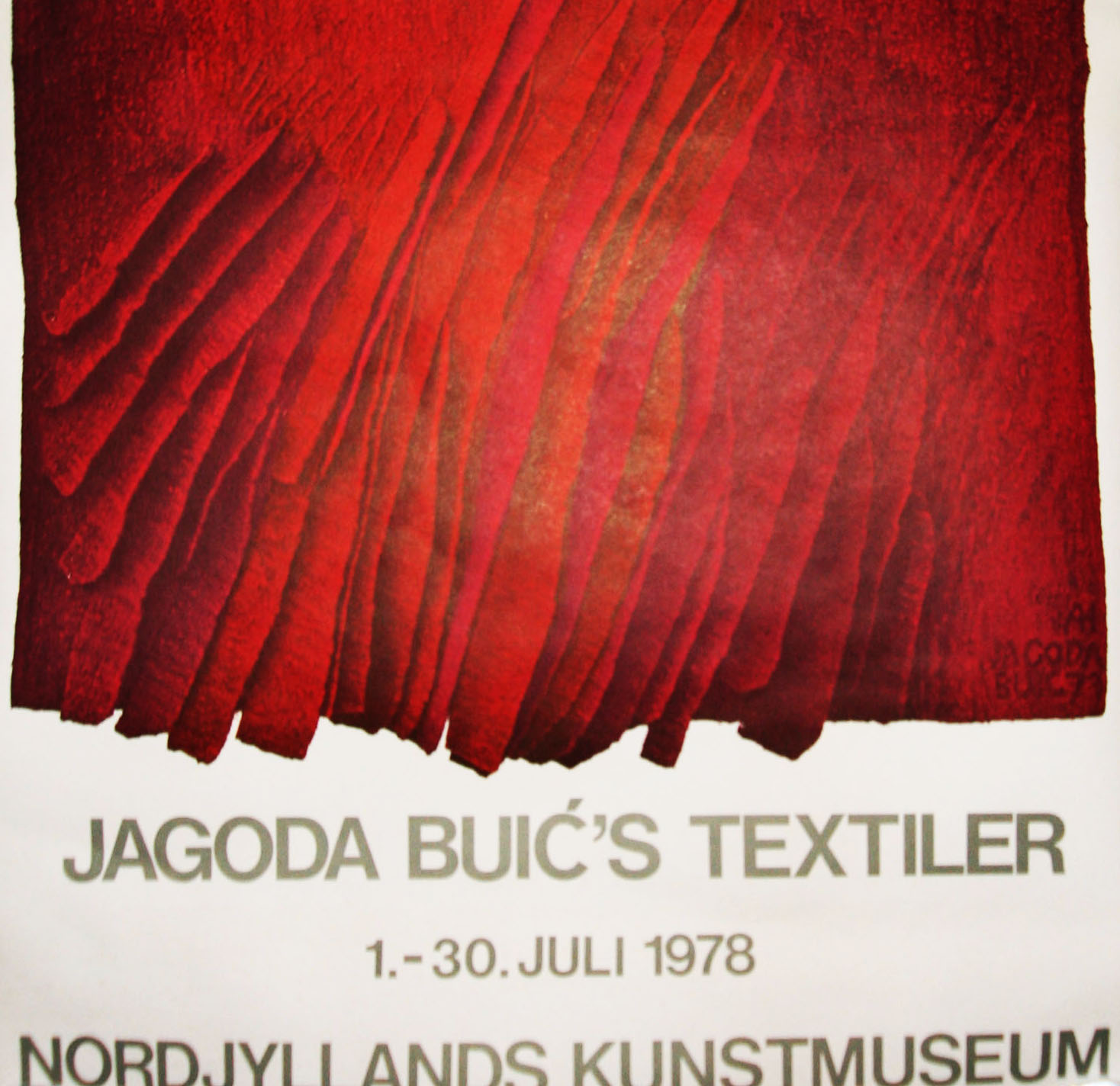 jagoda buic textiler udstillingsplakat